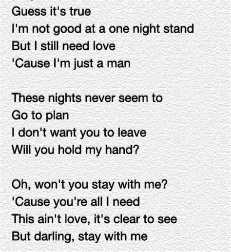 printable lyrics sam smith stay with me sam smith stay with me quotes quotesgram