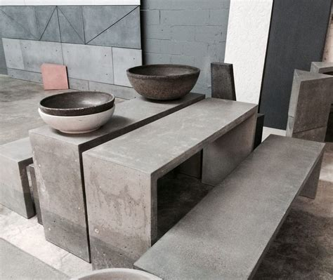Cement Furniture by 17 Best Ideas About Concrete Furniture On