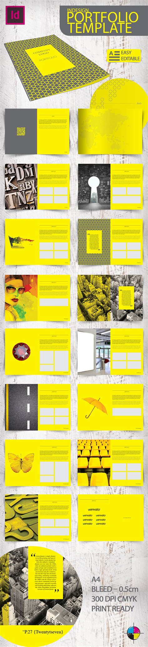 Indesign Portfolio Template On Behance Graphic Design Portfolio Template Indesign