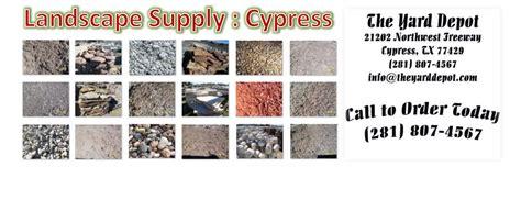 wholesale retail landscape supplier cypress tx topsoil