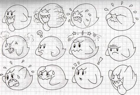 doodle expression boo s expression doodles by superlakitu on deviantart