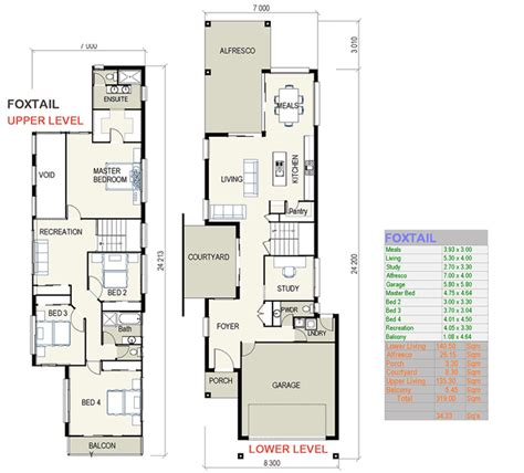 House Plans For Narrow Lots Foxtail Small Lot House Plans Free Custom Home Design