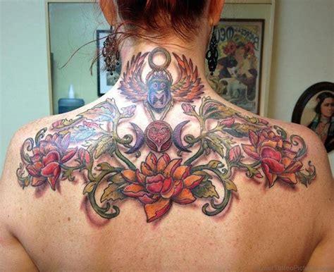 women s upper back tattoos 39 adorable flower tattoos on back