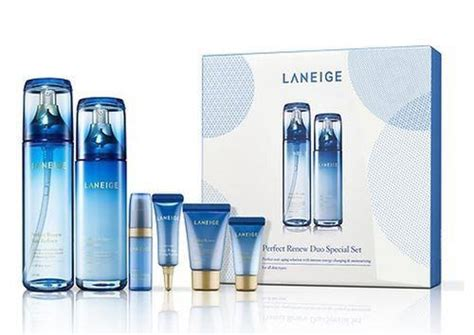 Ready Laneige Renew Skin Refiner Trial Travel Kit laneige renew trial kit 5 items 10ml 3 5ml 2 bonjourcosmetics