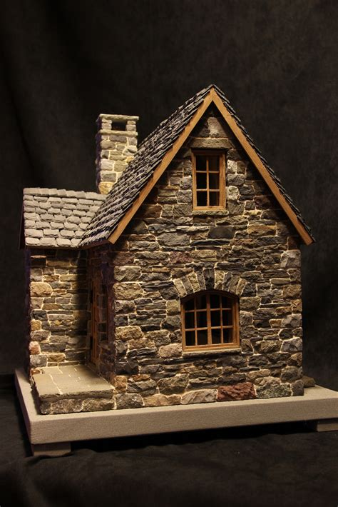 miniature homes models miniature stone cottage pedro davila flickr