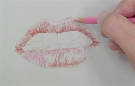 Lip Colour Pencil Make how to draw a realistic with colored pencils