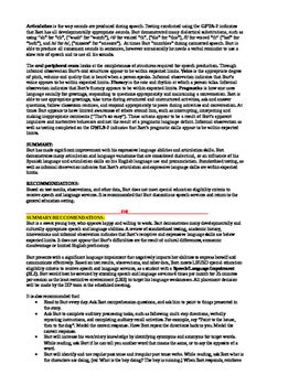 sle speech language evaluation report speech and language report template 28 images resume