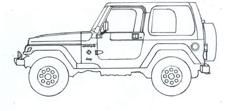 how to draw a army jeep the gallery for gt jeep wrangler drawing