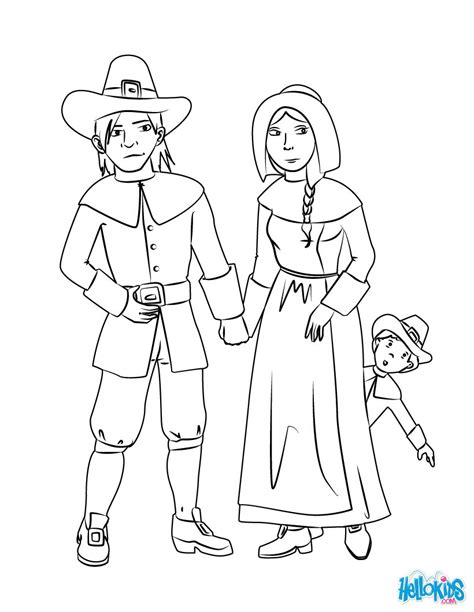 pilgrim family coloring page pilgrim family coloring pages hellokids com