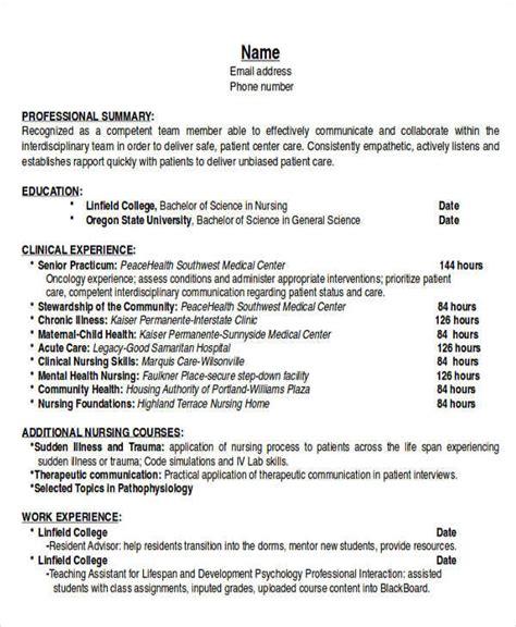 sle resume smart nursing goals exles 6 exle resume objectives sle templates