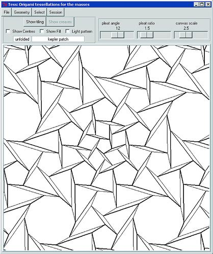 Origami Design Software - tessellations to color