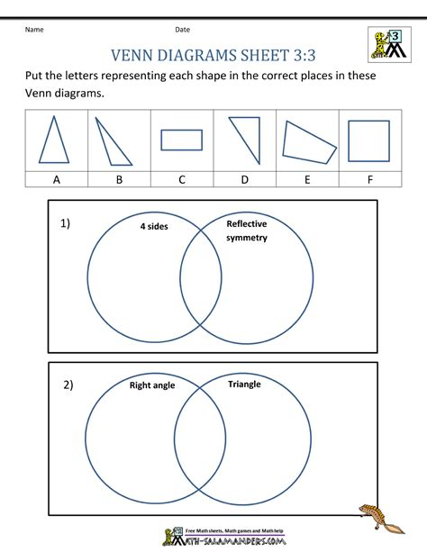 venn diagram math worksheets pdf venn diagram solver