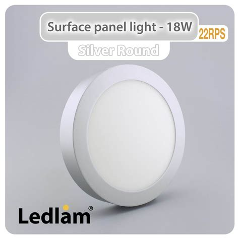 Oscled Mzpbd8r Surface Panel Light 18w led surface panel light 18w 22rps silver