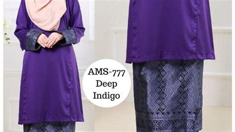 Baju Rossa Songket baju raya 2017 kurung pahang songket indigo purple ams 777 syaisya