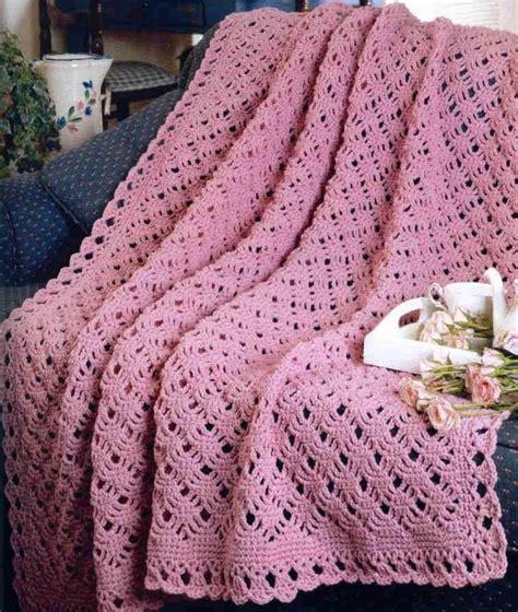 pattern crochet afghan blanket crochet pattern afghan blanket throw pretty scallop ebay