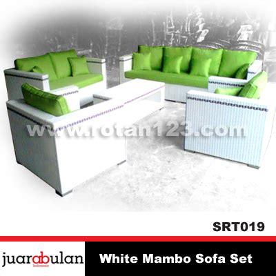 Sarung Bantal Sofa 019 harga jual white mambo sofa set sofa rotan sintetis model gambar