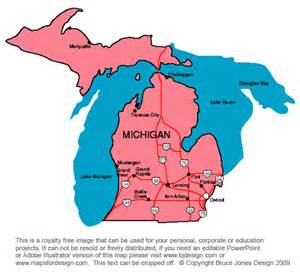 Michigan Us Map by Us State Printable Maps Massachusetts To New Jersey