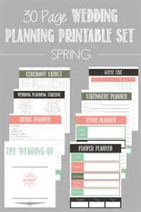 free printable wedding planner templates 30 page wedding planning printable set bread booze bacon
