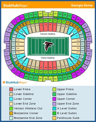 atlanta falcons seating chart prices dome seating chart pictures directions and