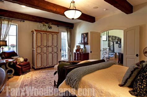 Shop Bedroom Furniture bedrooms with open beam ceilings faux wood workshop