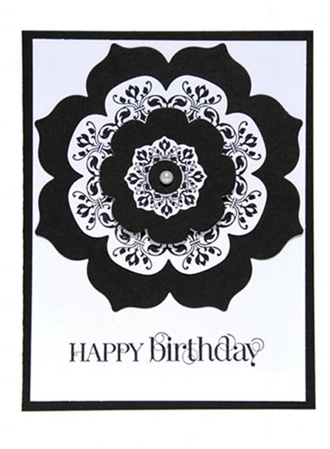 Black Birthday Card Happy Birthday Card Black And White Www Imgkid The