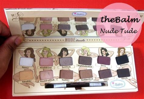 Thebalm Tude Eyeshadow thebalm tude eyeshadow palette review and swatches
