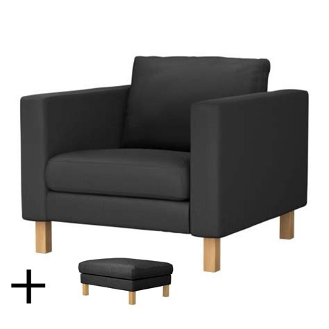 armchair and footstool ikea karlstad armchair and footstool slipcover chair