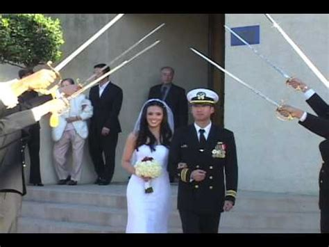 Arch of Sabers (Sword) Ceremony at Navy Wedding   YouTube
