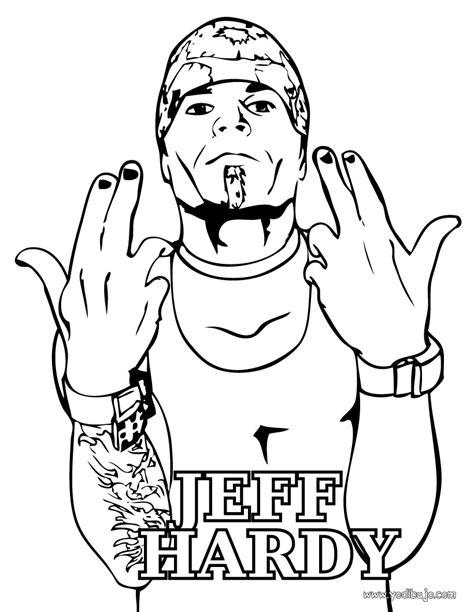 imagenes para colorear wwe dibujos para colorear luchador wwe jeff hardy es
