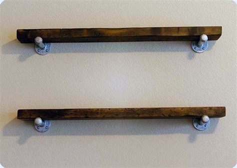 Floating Pine Shelf by 31 Magnificent Reclaimed Wood Shelves