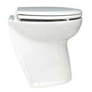 Jabsco Electric Marine Toilet Troubleshooting by Jabsco Deluxe Flush Electric Toilet Raw Water Angled