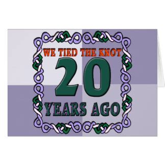 20th Anniversary Cards