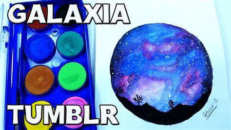 dibujos para pintar con acuarelas como pintar un paisaje con galaxia tumblr acuarelas