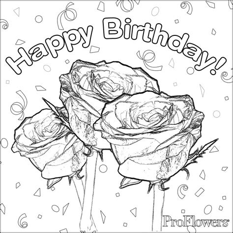 free coloring pages of 40 happy birthday
