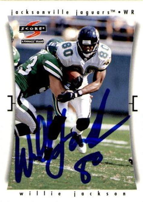 jackson jaguars football willie jackson jacksonville jaguars signed football card