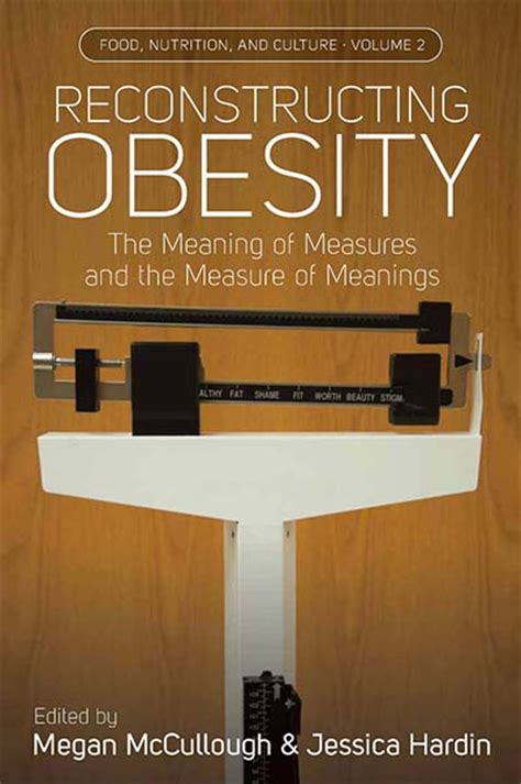 berghahn books reconstructing obesity  meaning  measures   measure  meanings
