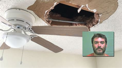 Oklahoma County Sheriff Warrant Search Ocso Hiding Suspect Falls Through Ceiling During Warrant