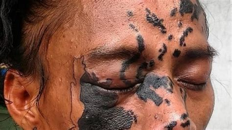 tato peta indonesia gambar 25 tato realis tubuh manusia wajah kelihatan asli 2