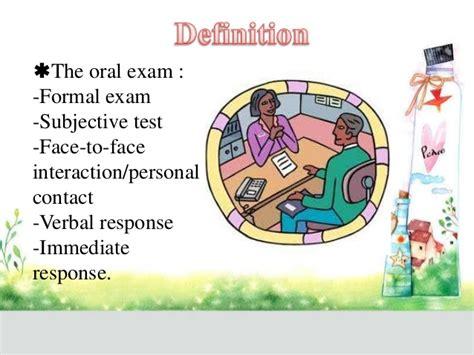 test orale test