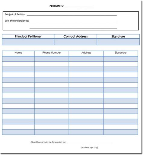 Petition Template Word Hunecompany Com Petition Form Template