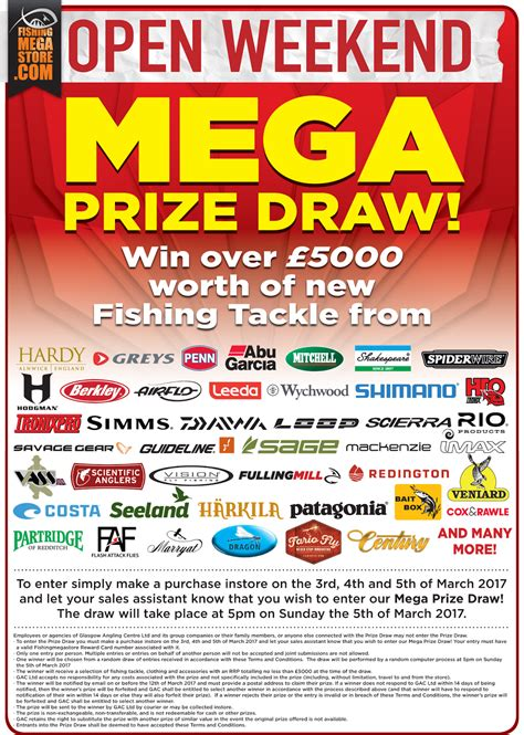 Poster Fishing S20 gac mega prize draw the open weekend 2017