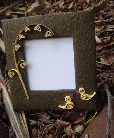 Handmade Cardboard Photo Frames - s treasures recycled diy photo frame