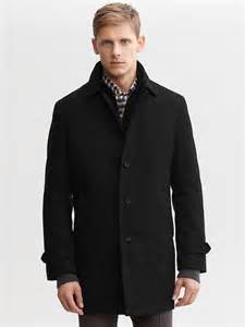 banana republic wool car coat in black for lyst