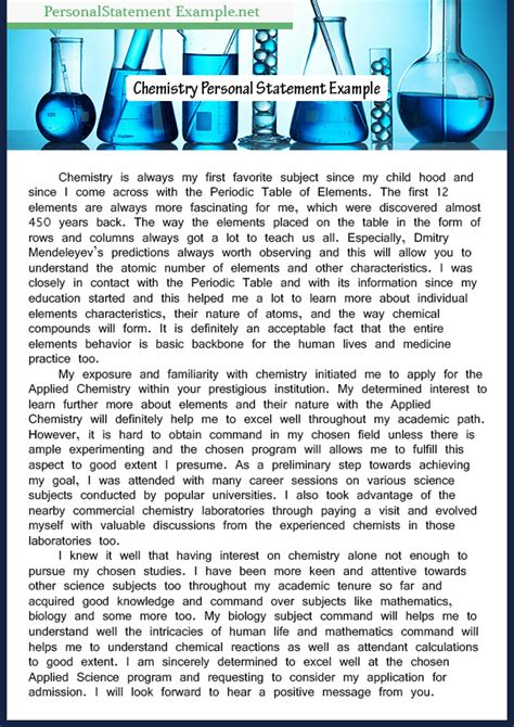 chemistry personal statement writefiction581 web fc2