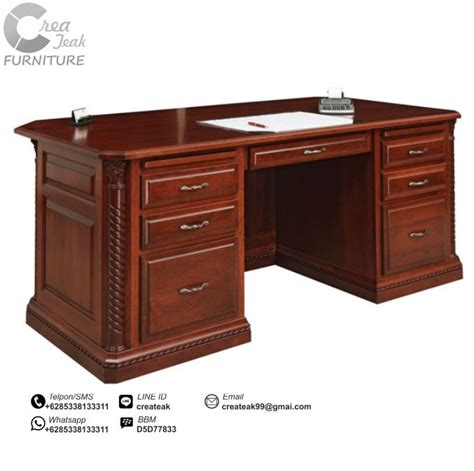 Furniture Meja Kantor meja kantor klasik berry createak furniture createak furniture