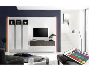 meuble tv mural design lumineux collection alida meuble
