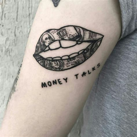 money tattoo designs money talks ideas