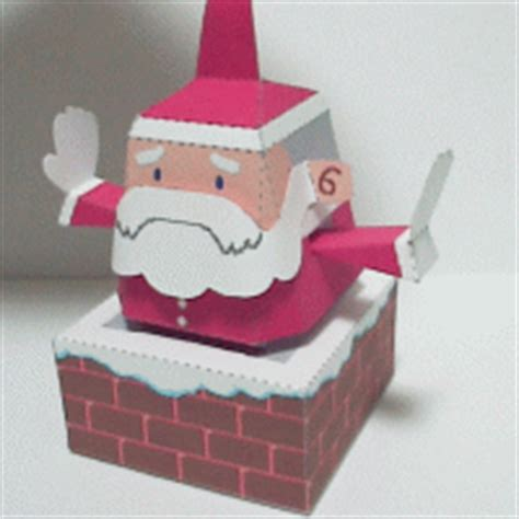 chiminea glue papercraft de santa claus en una chimenea manualidades