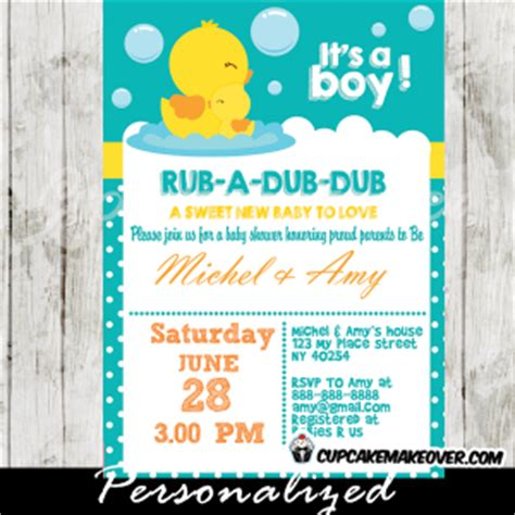 Rubber Duck Baby Shower Invitation Personalized Rubber Ducky Baby Shower Invitations Template Free