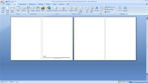 microsoft word template 4 cards to a page how to print your own cards burris computer forms